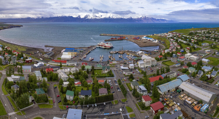 Húsavík is a picturesque small town